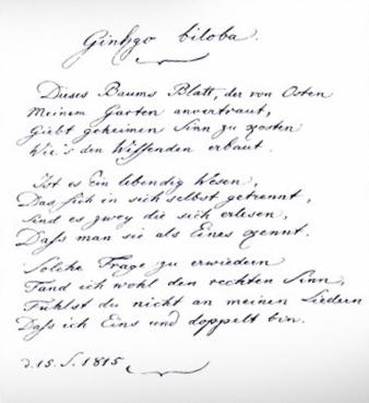 Poeme Goethe