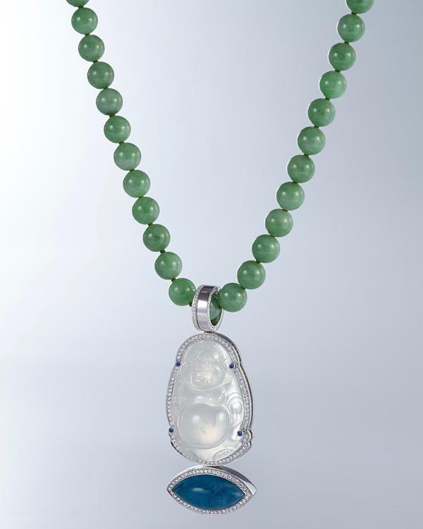 Cadeaux Necklace Budai White Jade - 1