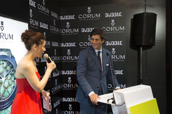 """MC Diana """"Dai"""" Chongintana introduces CORUM COO Davide Traxler"""
