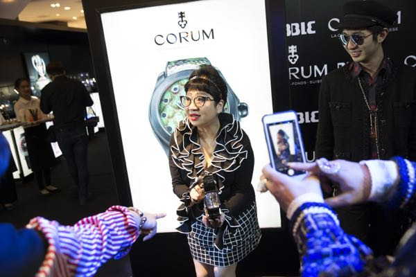 Cadeaux's Corum Bubble event at Central Chitlom on the 13th July 2016.