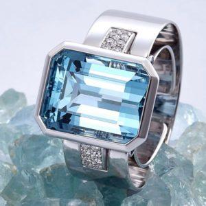 CADEAUX JEWELRY | SENSE Ring Aquamarine | Modular Jewelry Concept ©