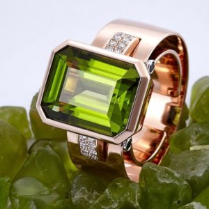 CADEAUX JEWELRY | SENSE Ring Peridot | Modular Jewelry Concept ©