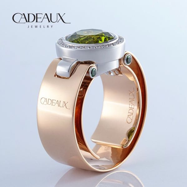 CADEAUX JEWELRY | Ring SENSE Peridot Round | © Cadeaux Jewelry Modular Concept