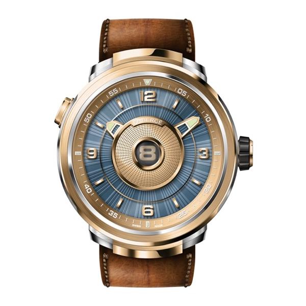 FABERGÉ | Fabergé Visionnaire DTZ Brown and 18Kt Rose Gold Men's Watch